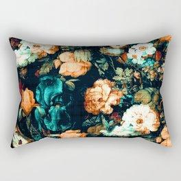 Vintage Floral Rectangular Pillow