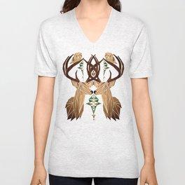 deer owl Unisex V-Neck