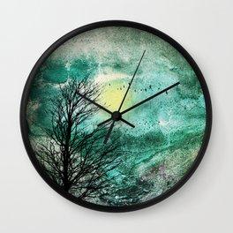 TREES under MAGIC SKY I Wall Clock