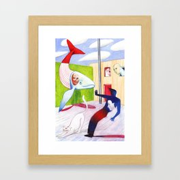 The Mysterious Past Framed Art Print
