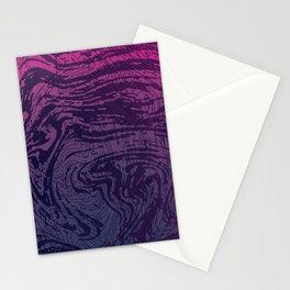 Ultra Violet Marbeling Stationery Cards