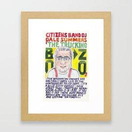 The Trucking Bozo Framed Art Print
