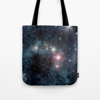 outer space Tote Bags featuring Outer Space by apgme