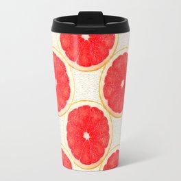 grapefruit pattern Travel Mug