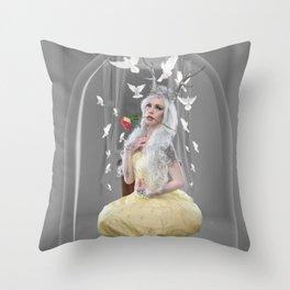Melanie under glass Throw Pillow