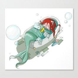 Mermaid nowadays Canvas Print