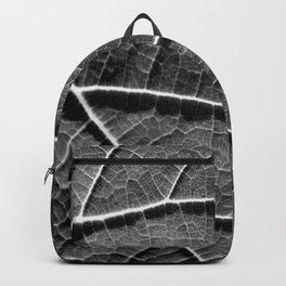 Leaf in black and white Backpack