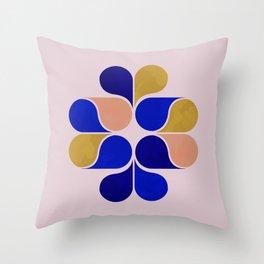 Tear drop shapes creation Throw Pillow