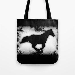 Western-look Galloping Horse Silhouette Tote Bag
