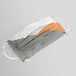 Concrete Tangerine White Face Mask