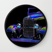 ford Wall Clocks featuring Ford Abstract by Beach Bum Pics