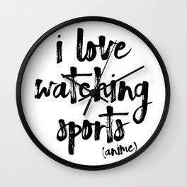 i love watching sports anime Wall Clock