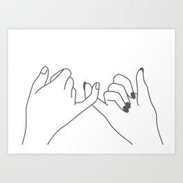 Pinky Promise 3 Art Print