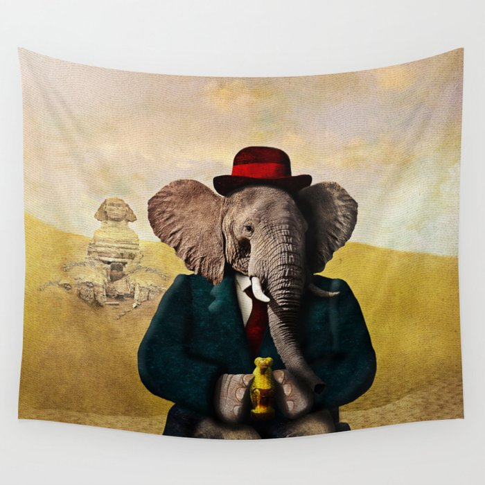 Mr. Preston J. Pachyderm visits the Sphinx Wall Tapestry