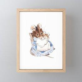 Mrs Mouse and baby Peter Rabbit  Beatrix Potter Framed Mini Art Print