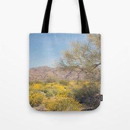 Joshua Tree Wildflowers Tote Bag