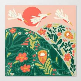 Harvest Moon Folk Collection | Sunrise Canvas Print