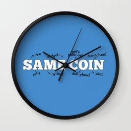 Same Coin - Blue Wall Clock