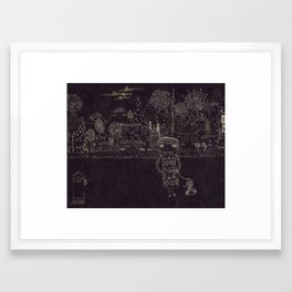 Last night Dream Framed Art Print