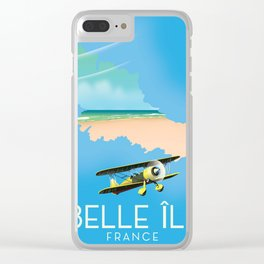 Belle Île island France Map. Clear iPhone Case