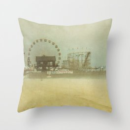 Seaside Heights Fun town pier New Jersey Throw Pillow