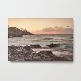 Bracelet Bay and The Mumbles Lighthouse Metal Print