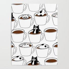 More Coffee French Bulldog Poster