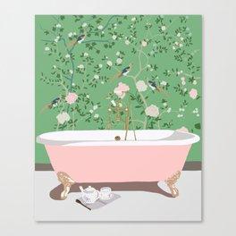 Poppy's Bathroom Canvas Print
