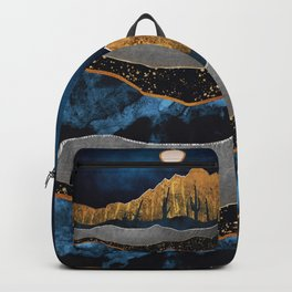 Midnight Desert Moon Backpack
