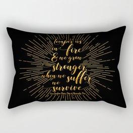 Temper us in Fire - The Mortal Instruments Rectangular Pillow