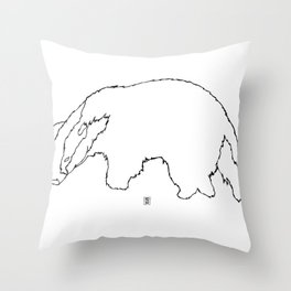 Badger Badger Throw Pillow