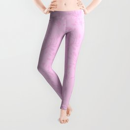 Hand painted pastel pink abstract floral Leggings