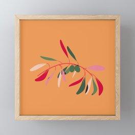 Colourful Plant - Olive Framed Mini Art Print