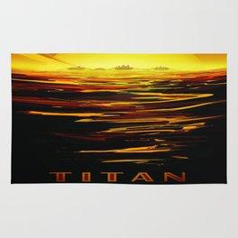 Titan : NASA Retro Solar System Travel Posters Rug
