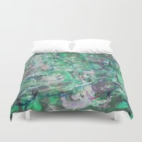 mermaids Duvet Covers featuring MERMAIDS SONG by mimulux
