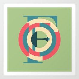 Typography series #F Art Print