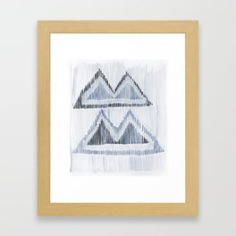 Chilili Watercolor Print in Blue Framed Art Print