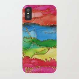 Alcohol Ink Landscape iPhone Case