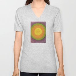 Sun above purple Sky Unisex V-Neck