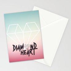 Diamond Heart Stationery Cards