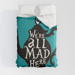 """""""We're all MAD here"""" - Alice in Wonderland - Teapot - 'Alice Blue' Comforters"""