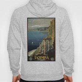 Vintage Taormina Sicily Italian travel ad Hoody