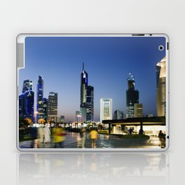 Kuwait City Skyline blur Laptop & iPad Skin