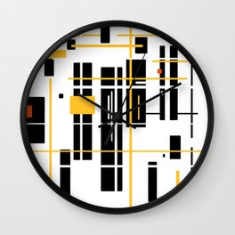 abstract architecure - skyscraper pattern Wall Clock
