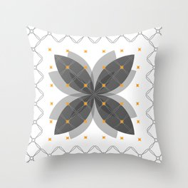 Gray Pattern No. 3 Throw Pillow