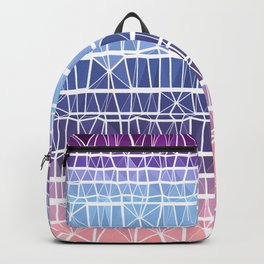 Low Poly Pink, Purple, and Blue Gradient Backpack