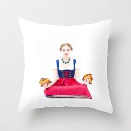 Lola Chicken Buddha Throw Pillow