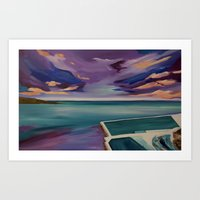 DNSW Series: The Bliss of Bondi  Art Print