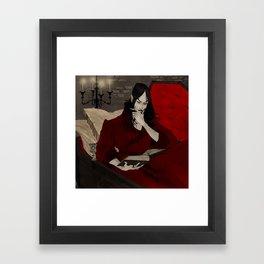 Dracula Reading Framed Art Print