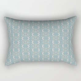 Lobate - Cadet Blue Rectangular Pillow